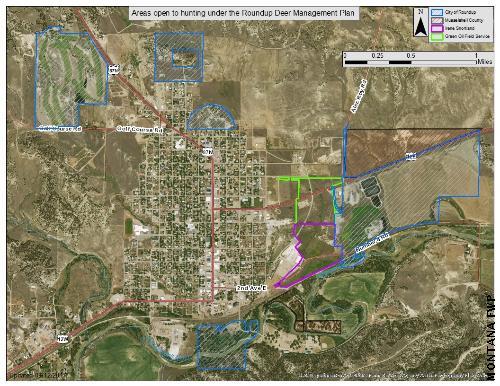Roundup Deer Hunt Map