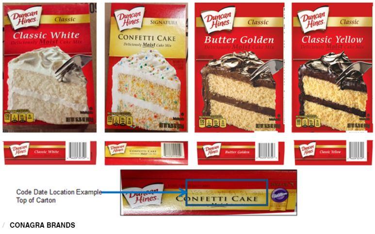 cake mix recall