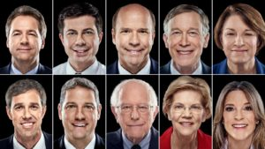 Democratic presidential candidates for first night of CNN debate